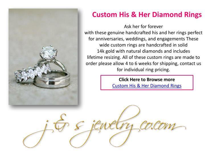 Custom His & Her Diamond Rings