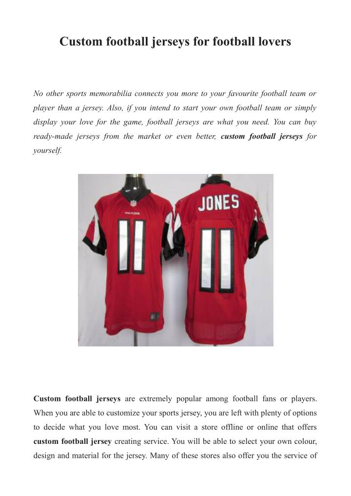 designer fashion a4d37 f365e PPT - Personalized football jerseys PowerPoint Presentation ...