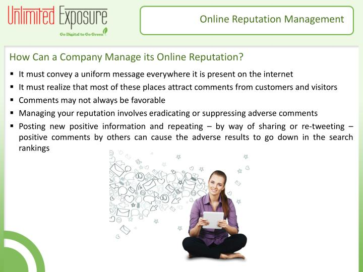 How Can a Company Manage its Online Reputation?