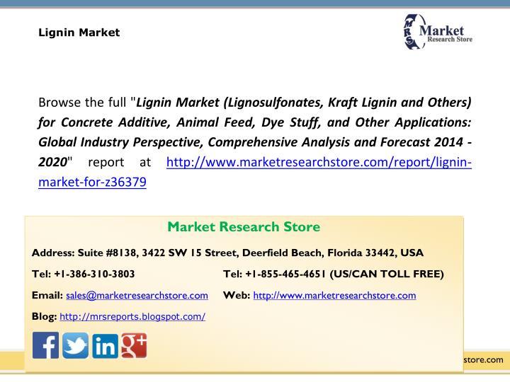 Lignin Market