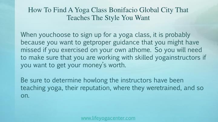 How To Find A Yoga Class