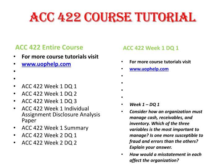 acc 422 week 1 individual disclosure Acc 422 – intermediate financialaccounting ii – complete acc-422_ c17htm acc 422 week 1 disclosure phoenix week 4 summary, guide, help, individual.