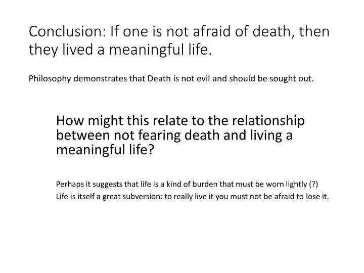 Conclusion: If