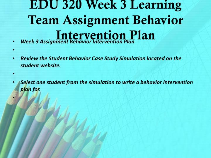 student behavior case study mte522 2 Case studies on emotional and behavioral disorders and kathryn smith 2/6/14 week 3: emotional and behavior disorders case study an 8th grade student.