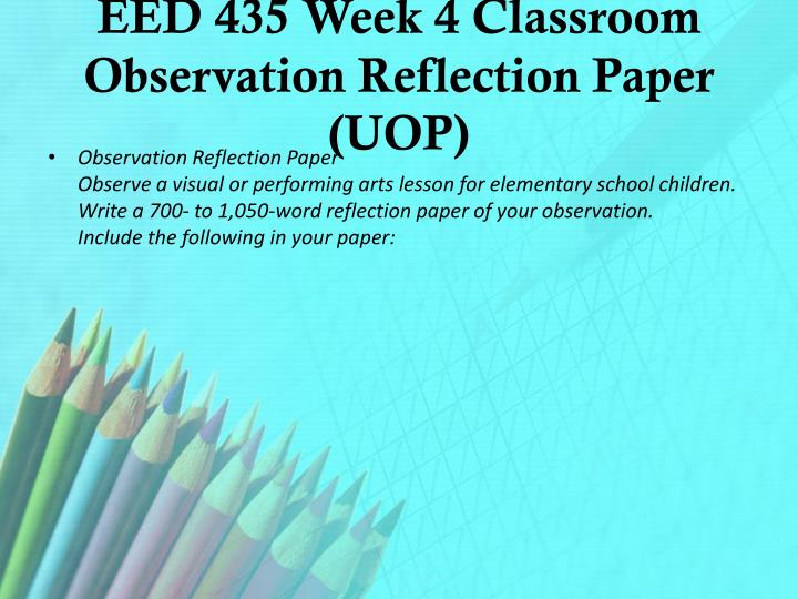alternative class program reflection paper One example of a reflective essay the english program at california state university channel islands prepares students for a wide range of exciting and.