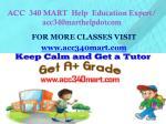 acc 340 mart help education expert acc340marthelpdotcom1