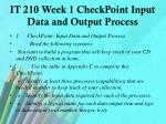 it 210 week 1 checkpoint input data and output process