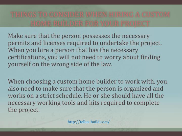 Things To Consider When Hiring A Custom Home Builder For Your Project