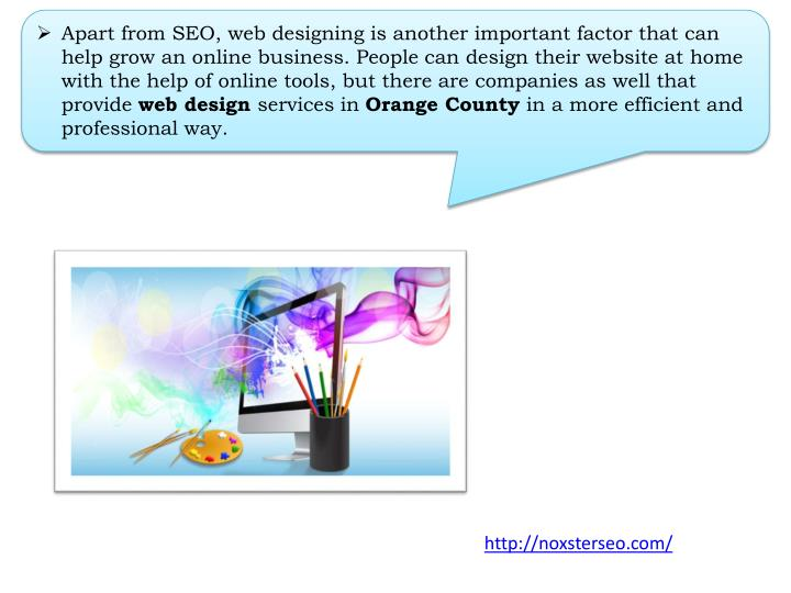 Apart from SEO, web designing is another important factor that can help grow an online business. Peo...