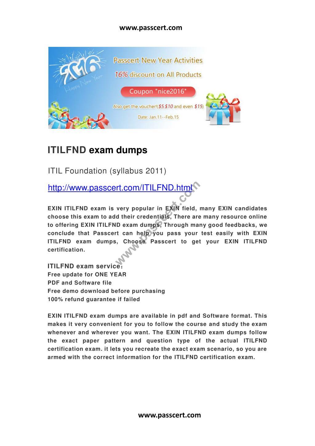Ppt Exin Itilfnd Exam Dumps Powerpoint Presentation Id7289744