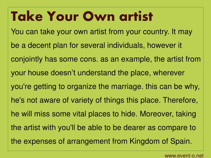 Take Your Own artist