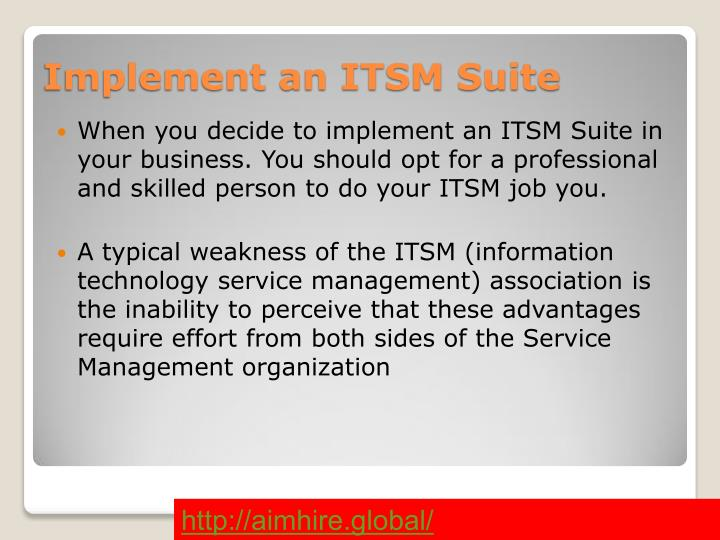 Implement an ITSM Suite