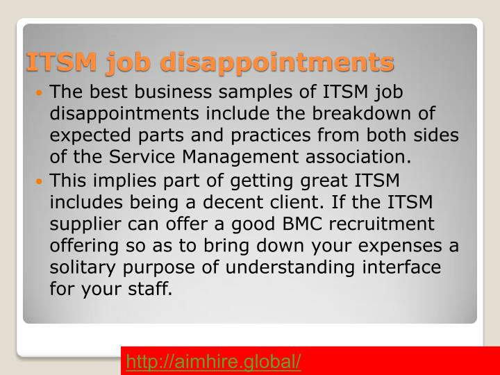 ITSM job disappointments