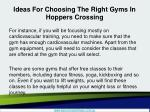 ideas for choosing the right gyms in hoppers crossing3