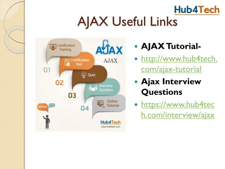 AJAX Useful Links