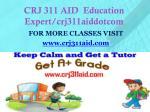 crj 311 aid education expert crj311aiddotcom1