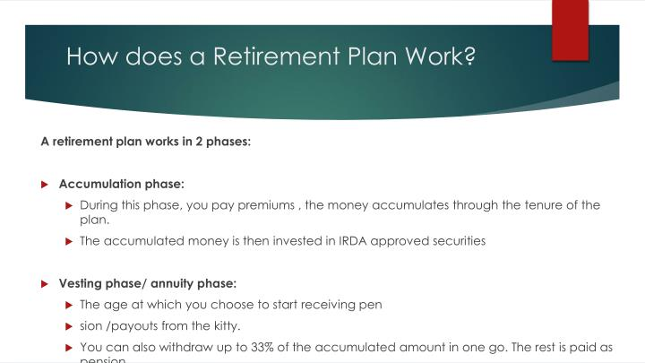 How does a retirement plan work