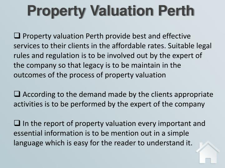 Property Valuation Perth