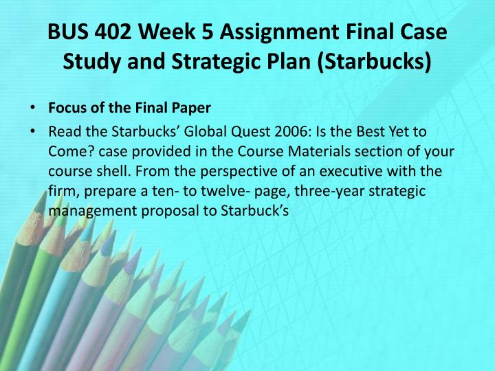 starbucks three year strategic plan essay