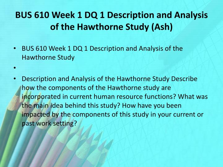 bus610 week 1 discussion 1 Hsm 542 week 1&2 discussion essay bus610 week 3 assignment essay 1695 words more about hsm 542 week 3 assignment essay.