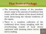 thar festival package