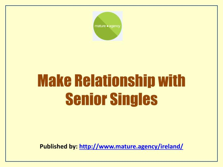 Senior dating agency.net