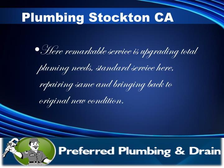 Plumbing Stockton CA