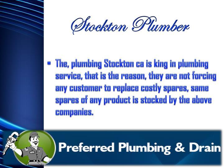 Stockton plumber