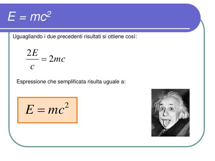 E = mc