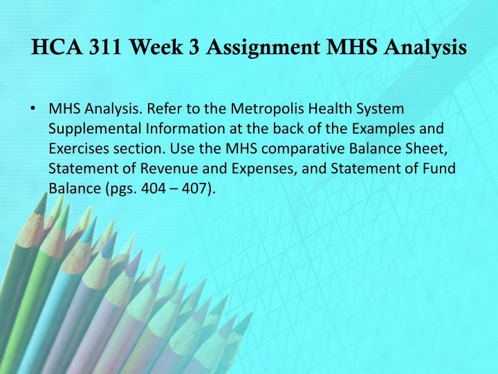 hca 311 week 2 assignment contribution