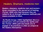 healers shamans medicine men