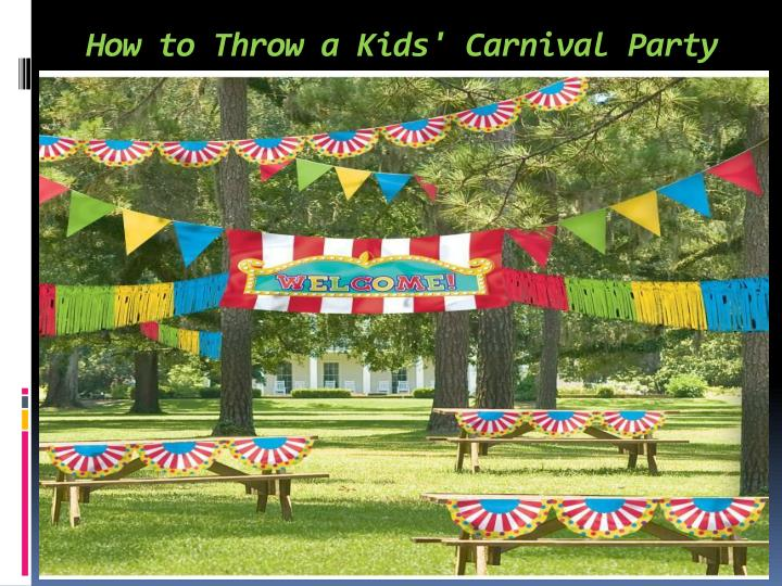 how to throw a kids carnival party n.