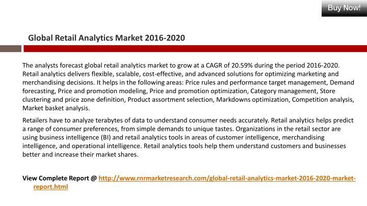 Global Retail Analytics Market 2016-2020