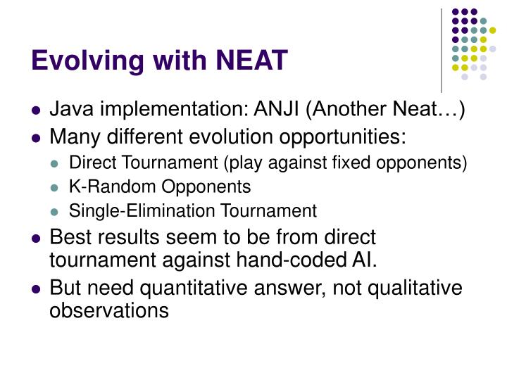 Evolving with NEAT