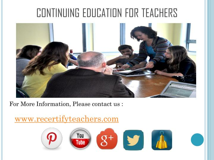 continuing education for teachers