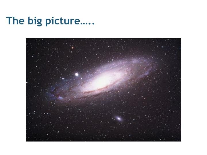 The big picture…..