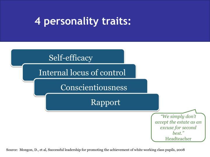 4 personality traits: