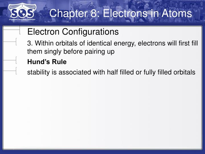 Chapter 8: Electrons in Atoms
