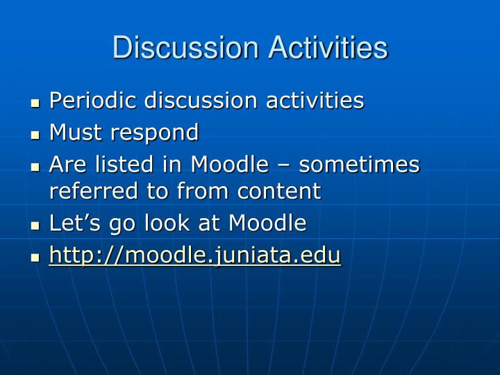 Discussion Activities