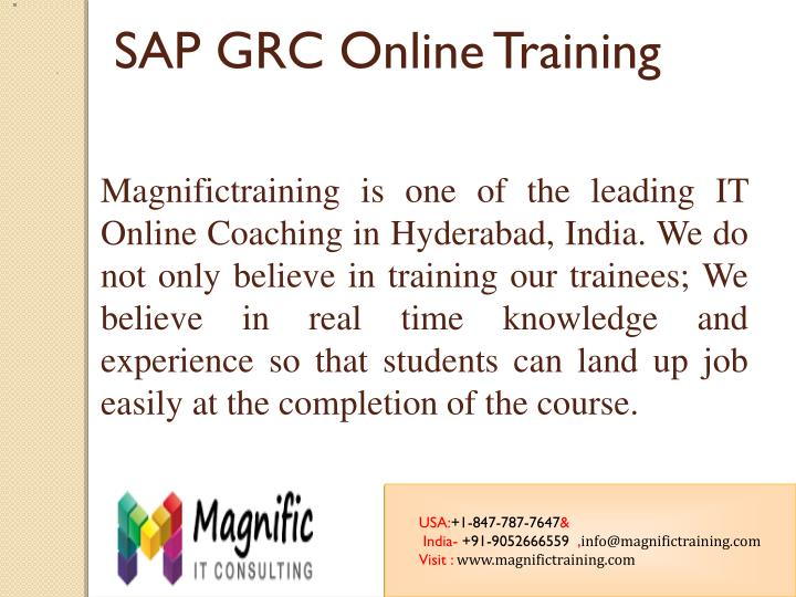 Magnifictraining is one of the leading IT Online Coaching in Hyderabad, India. We do not only believ...