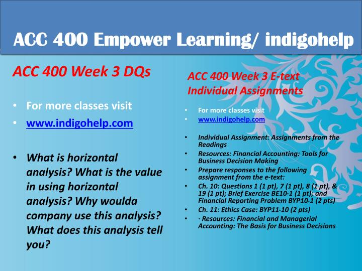 acc 400 week 1 e text individual