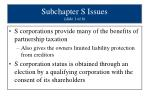 subchapter s issues slide 1 of 6