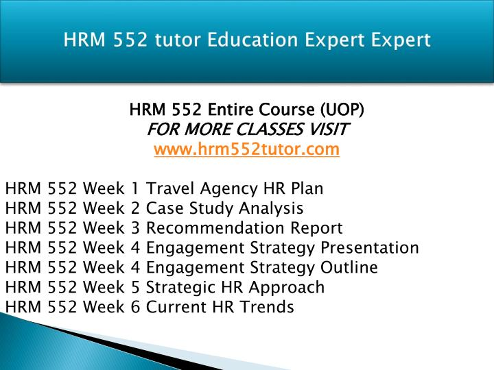 Hrm 552 tutor education expert expert