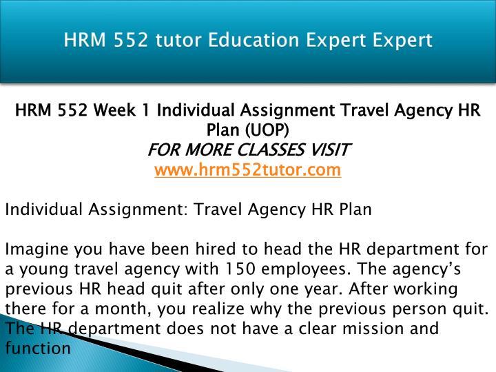 Hrm 552 tutor education expert expert1