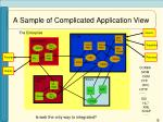 a sample of complicated application view