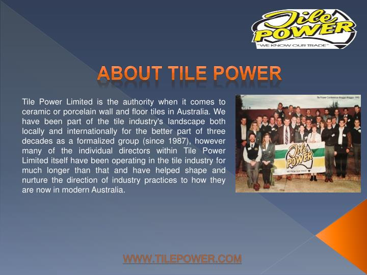 About tile power