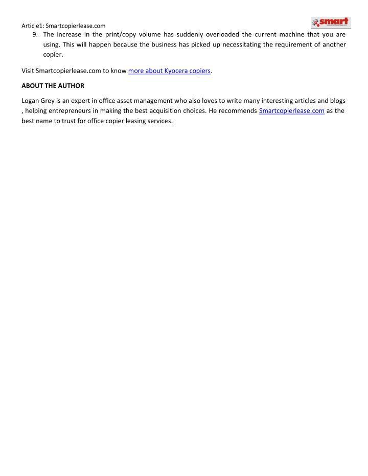 Article1: Smartcopierlease.com