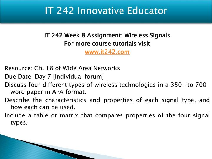 assignment voip week 2 it242