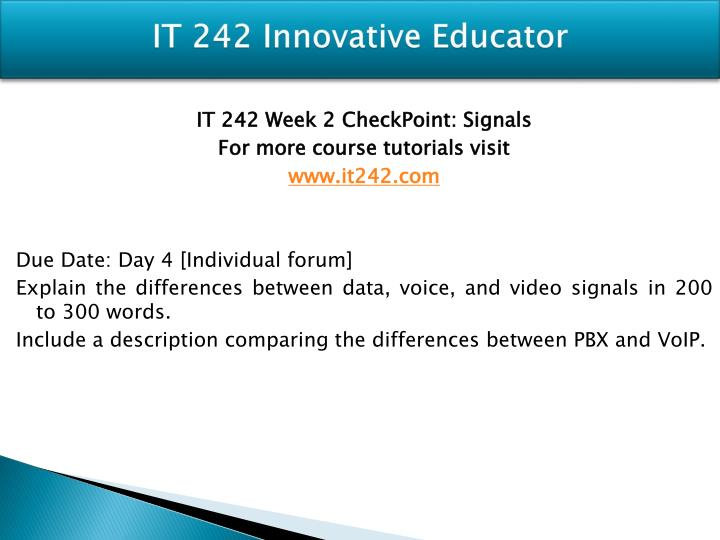 it 242 checkpoint signals It 242 week 4 checkpoint ethernet or token ring it 242 week 4 checkpoint ethernet or token ring consider the following scenarios: saguaro feder.