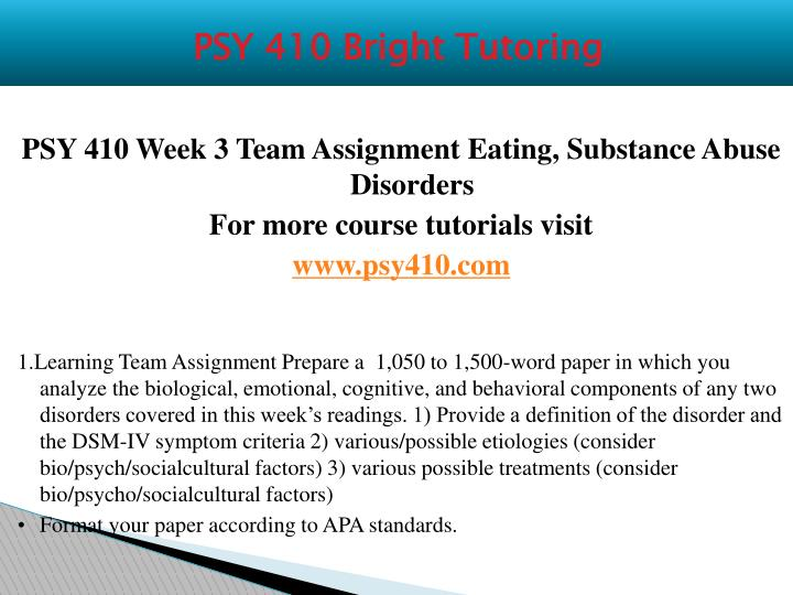 eating substance abuse week 3 psy410